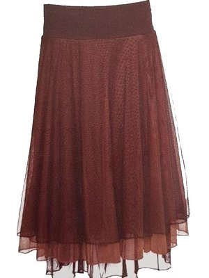 LaLaMour Mesh skirt / Petticoat - Brown