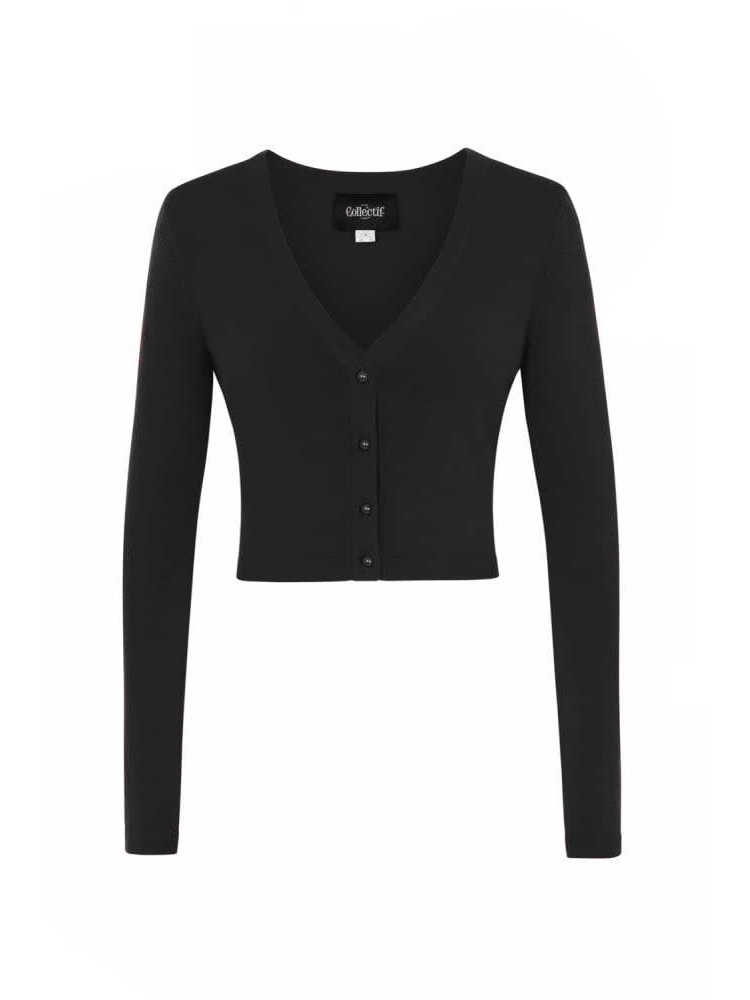 Collectif Kimberley Knitted Bolero Black