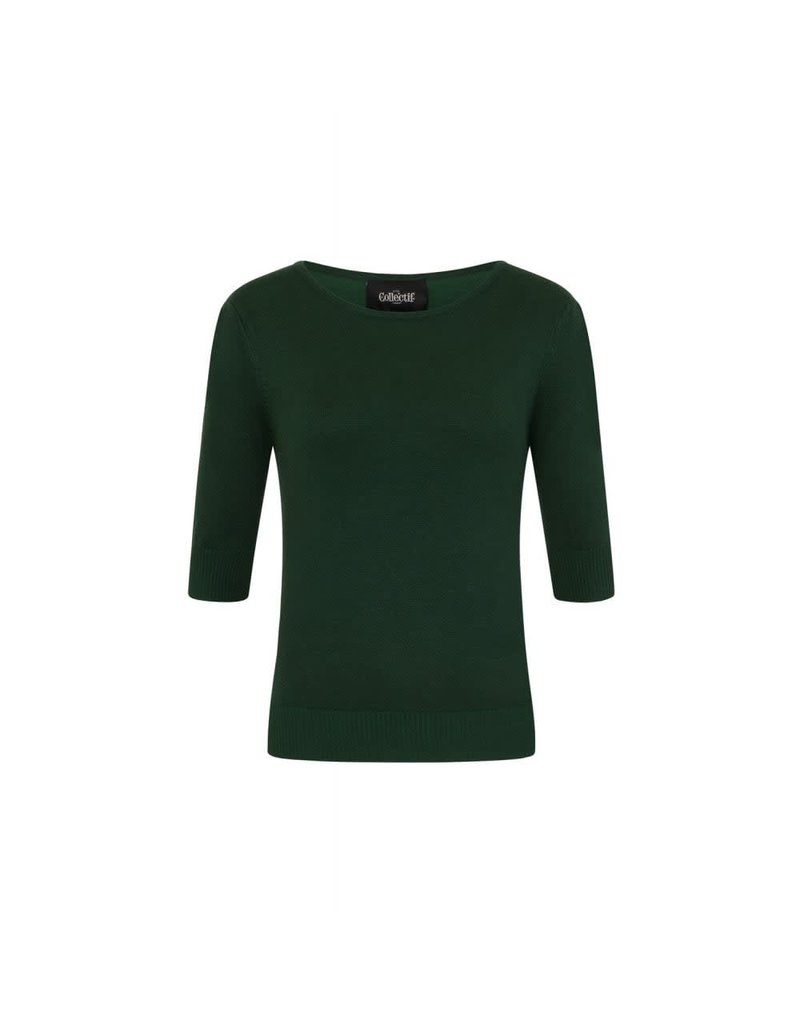 Collectif Chrissie Knitted Top - Green