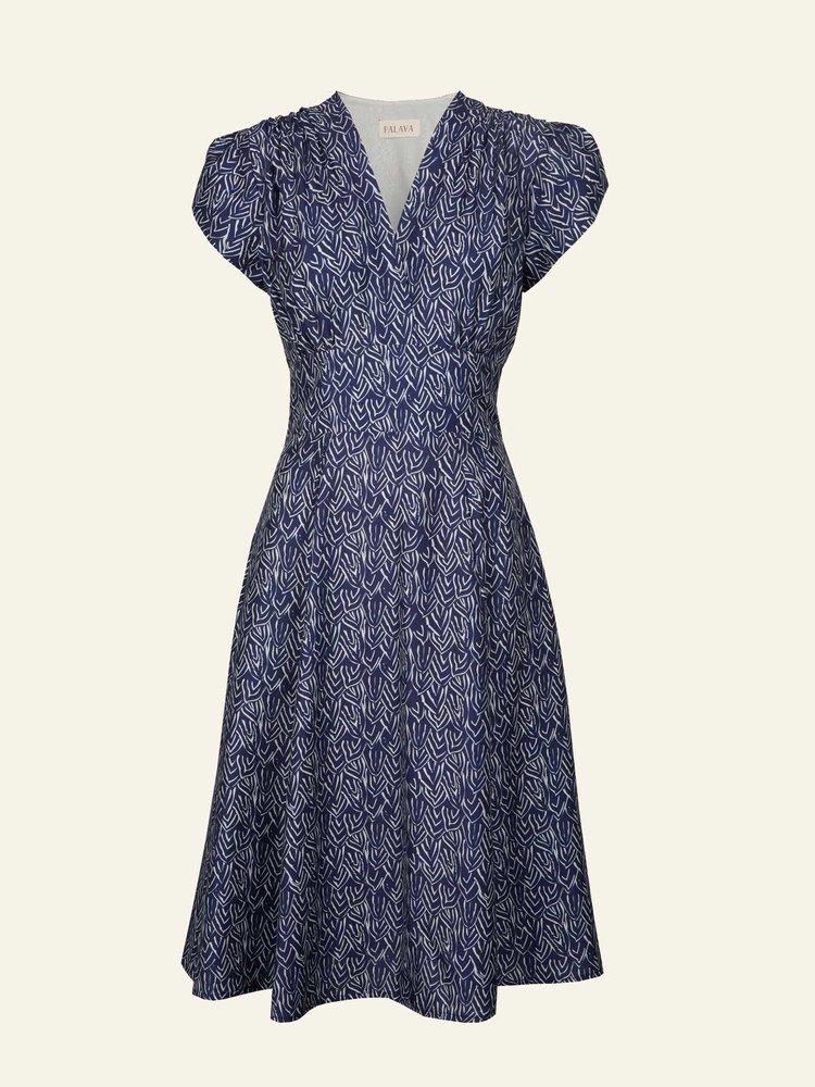 Palava Rita - Navy Feather Dress