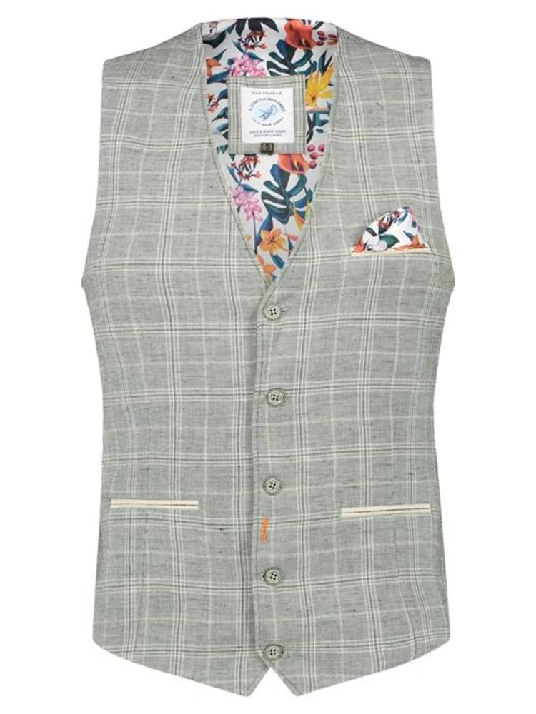 A Fish Named Fred Washed Linnen waistcoat
