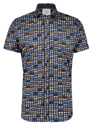 A Fish Named Fred Hippie Glasses shirt Navy