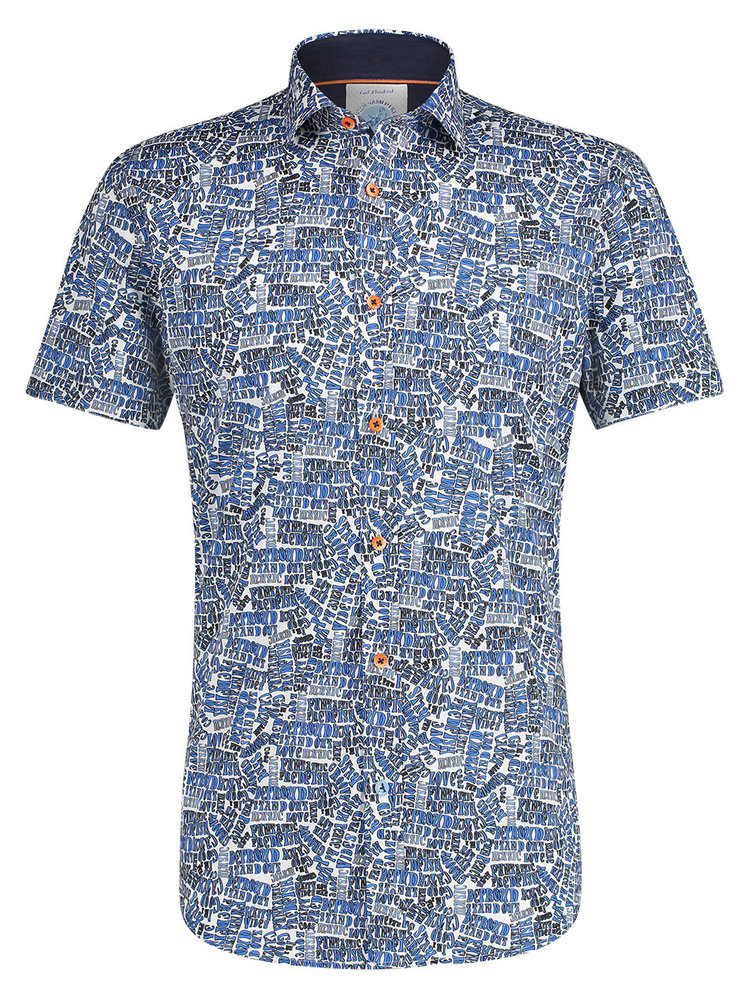 A Fish Named Fred Hippie Letters shirt short sleeves