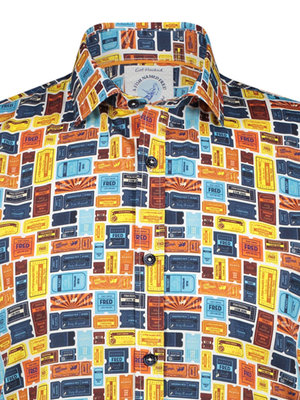 A Fish Named Fred Tickets shirt Navy short sleeves