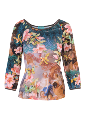 LaLaMour T-shirt Puffed Sleeves Venus