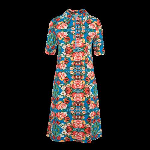 LaLaMour Zipper Dress Rose - blue