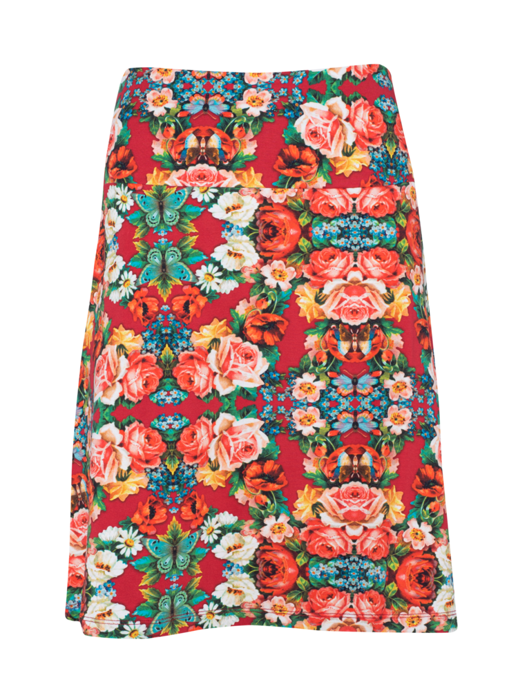 LaLaMour A-line Skirt Rose - red