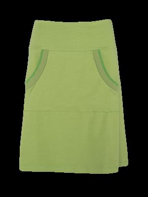 LaLaMour A-line skirt kangaroo - green
