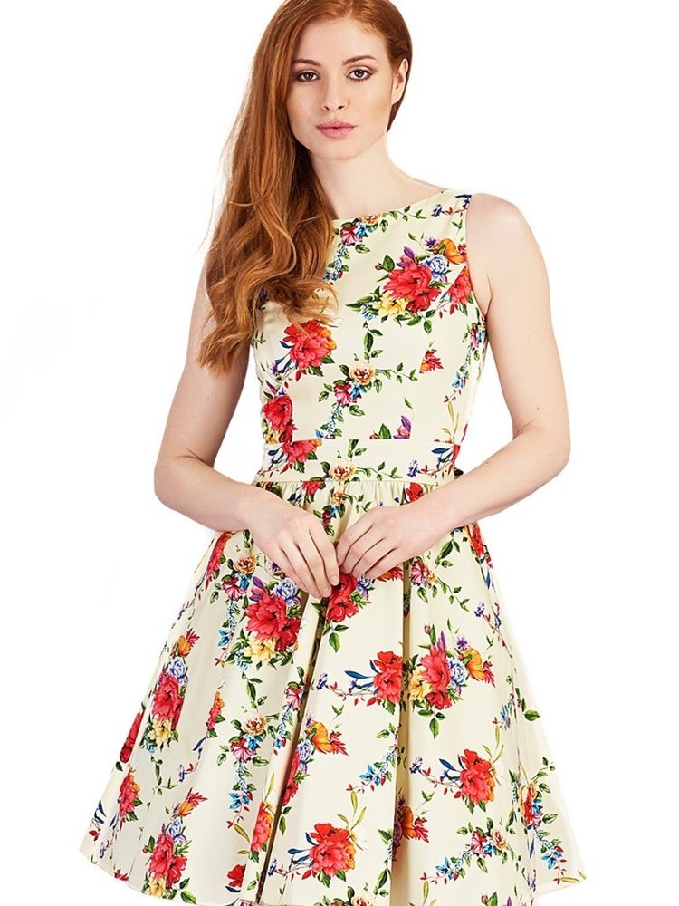 Lady V Tea Dress Blossoming Poppy