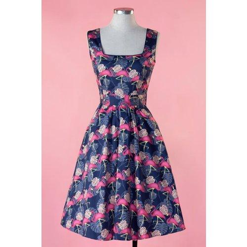 Eliza Dress - Pretty in Pink Flamingo