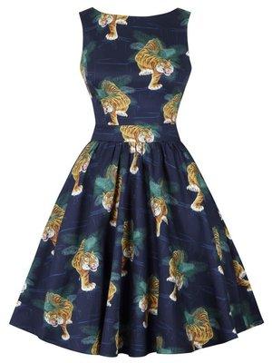Lady V Tea Dress - Tigress size M