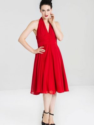 Hell Bunny Monroe Dress - Red