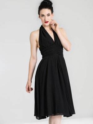 Hell Bunny Monroe Dress - Black