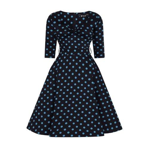 Lady V Maria dress Teal Polka dot