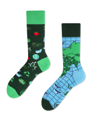 Many Mornings Save the Planet socks 43-46
