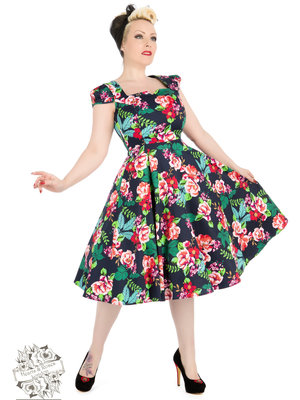 Hearts & Roses 50s Lucille Tea Dress size S
