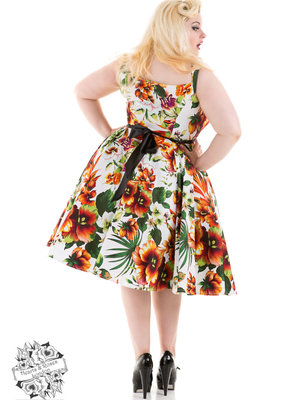 Hearts & Roses Princess Lily Dress in Orange