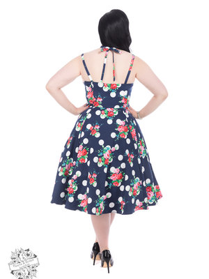 Hearts & Roses Dotty Floral Swing Dress