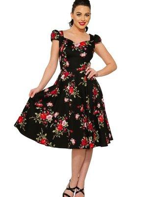 Hearts & Roses The Royal Ballet Tea Dress in Black