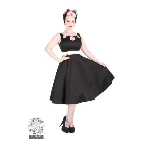 Hearts & Roses Keyhole Dress in Black