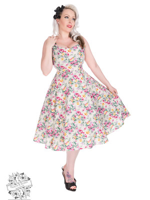 Hearts & Roses Lilac Posy Floral Swing Dress