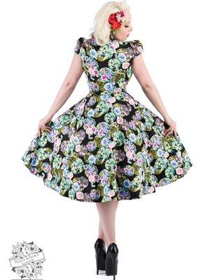 Hearts & Roses Black Marble Dress
