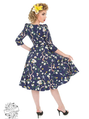 Hearts & Roses Enchanted Garden Floral Swing Dress