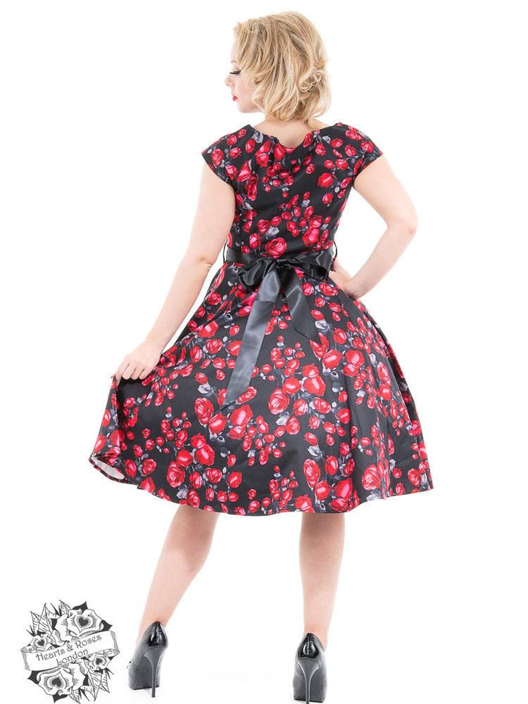 Hearts & Roses Taffeta Red Rose Day Dress