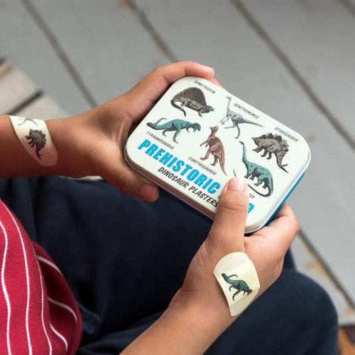 Rex London Dino plasters in a tin