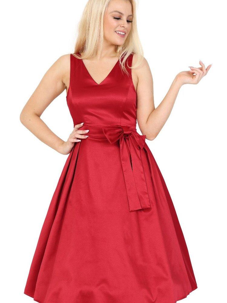 Lady V Iris dress - Ruby Red size S