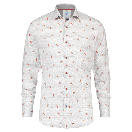 A Fish Named Fred Shirt lobsters white