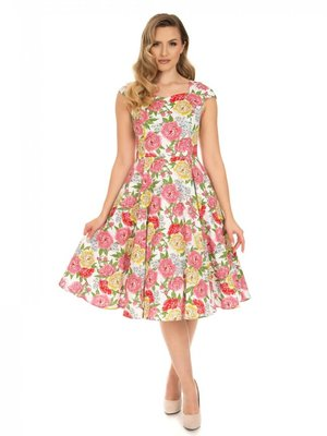 Hearts & Roses Rosana Floral Swing Dress size M
