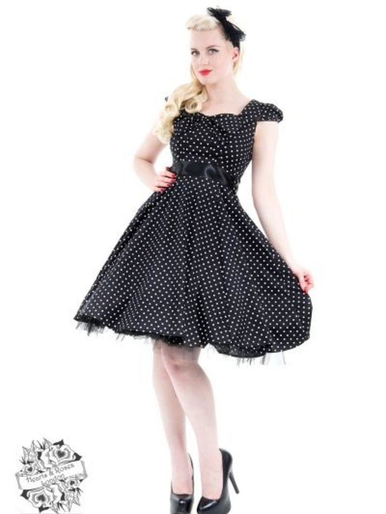 Hearts & Roses Polka Dot Tea Dress