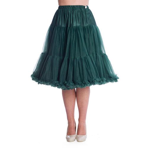 """Banned Banned petticoat 26"""" Bottle Green"""