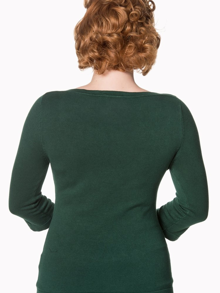 Banned Addicted Sweater - Forest Green