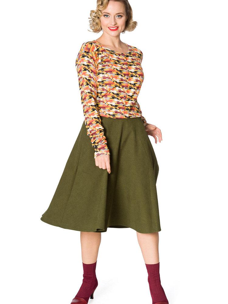 Banned Sophisticated swing skirt - Green