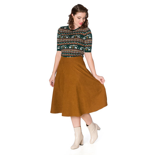 Banned Sophisticated swing skirt - Brown