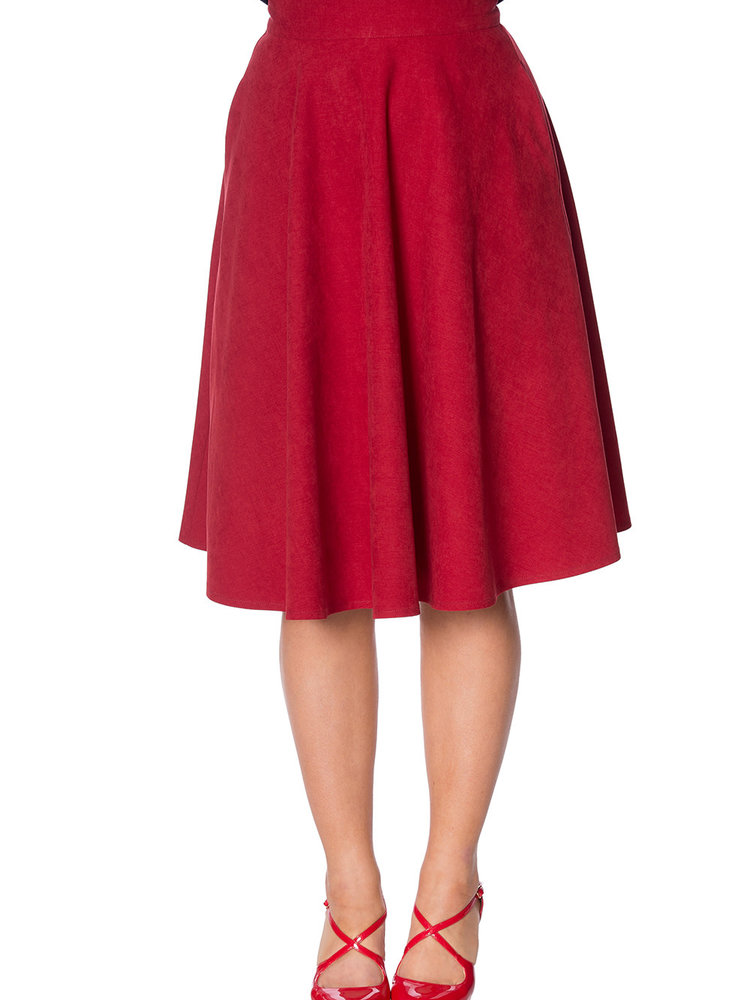 Banned Sophisticated swing skirt - Red