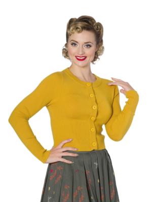 Banned Dolly Cardigan - Mustard