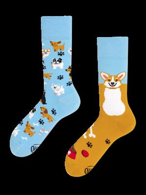 Many Mornings Playful Dog Socks 43-46