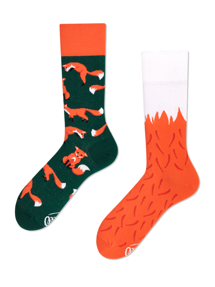 Many Mornings Red Fox Socks 43-46