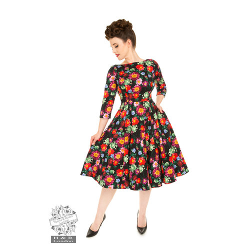 Hearts & Roses Jessica Floral Swing Dress