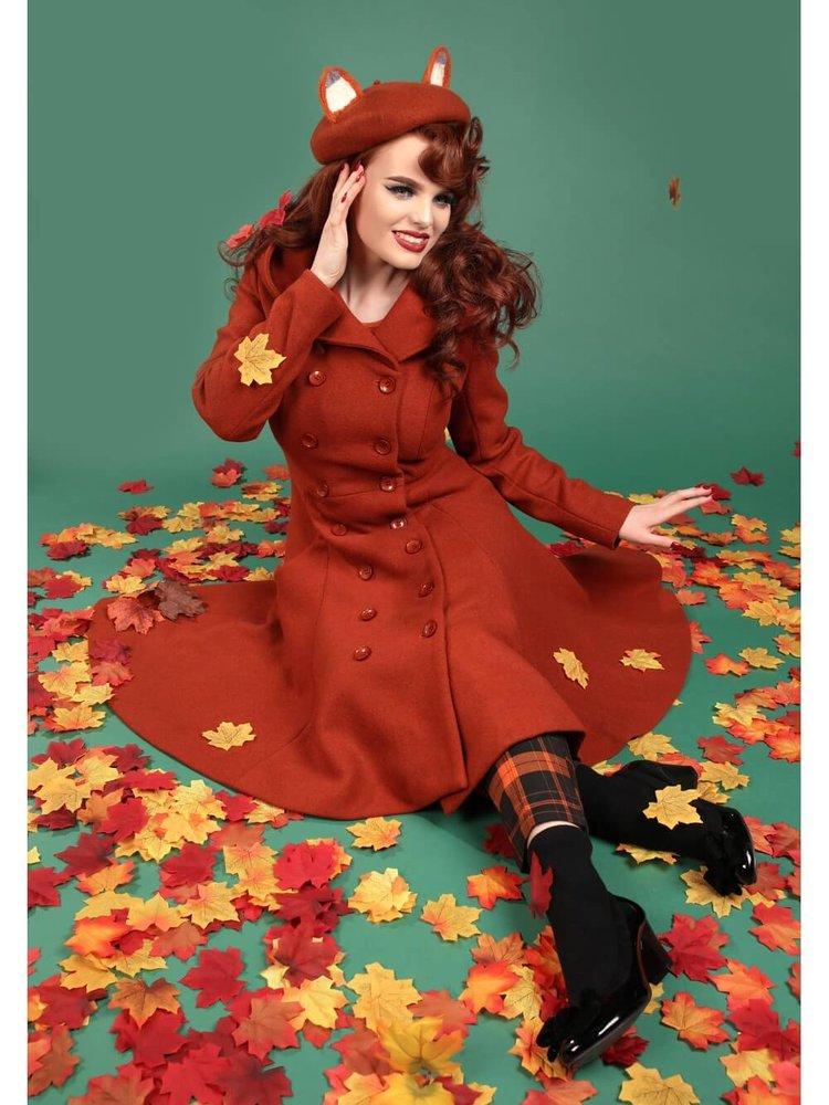 Collectif Heather coat - Orange