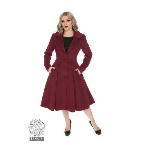 Hearts & Roses Lauren swing coat - Wine size M