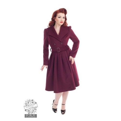 Hearts & Roses Swing coat wine size M