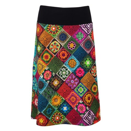 LaLaMour Granny Squares a-line skirt