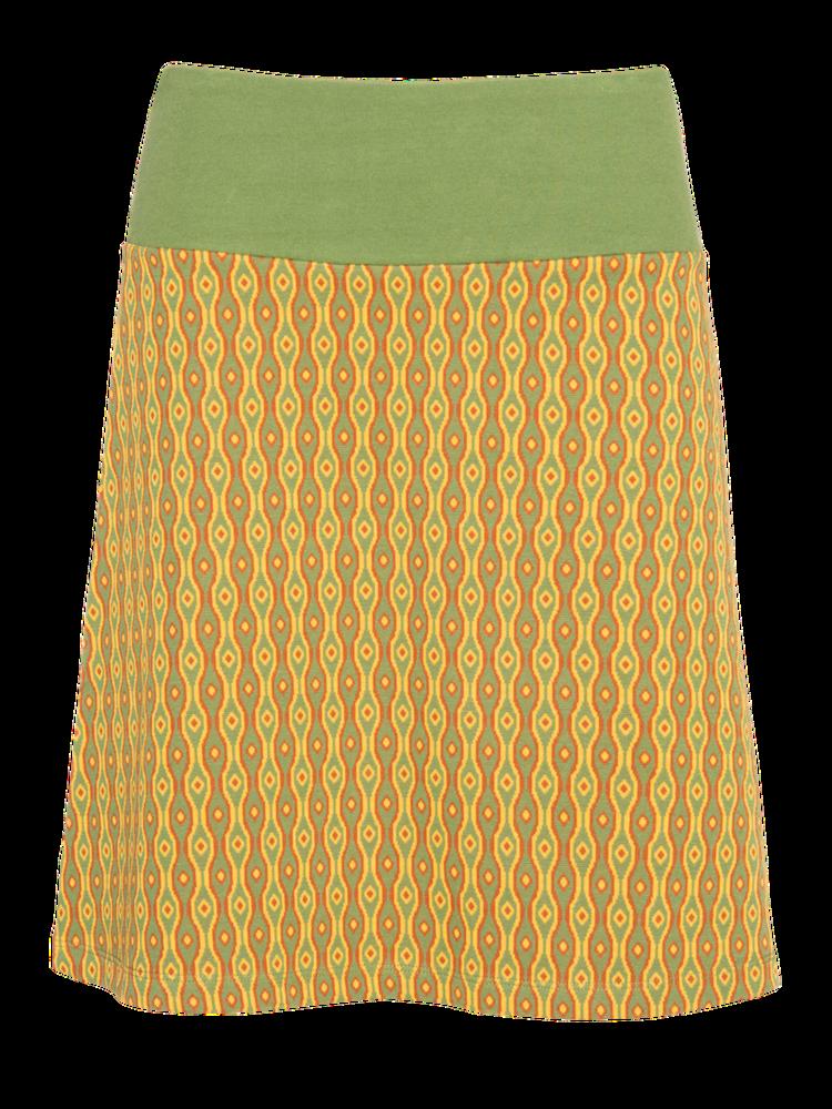 LaLaMour A-line skirt - Eye green/yellow