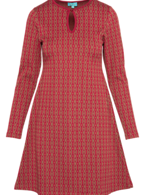 LaLaMour Flared Dress bordeaux/green