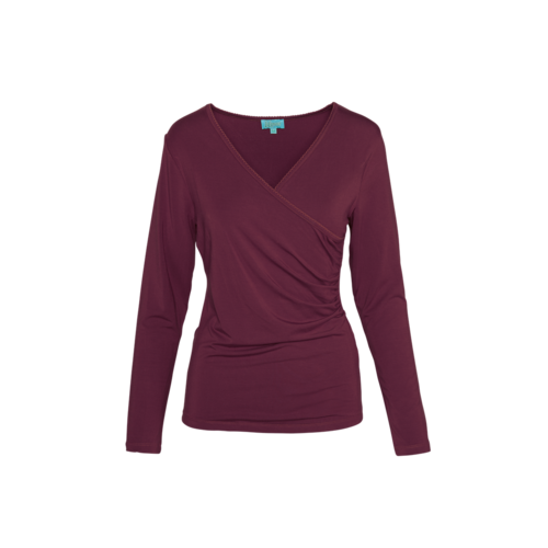 LaLaMour Wrap Shirt Aubergine