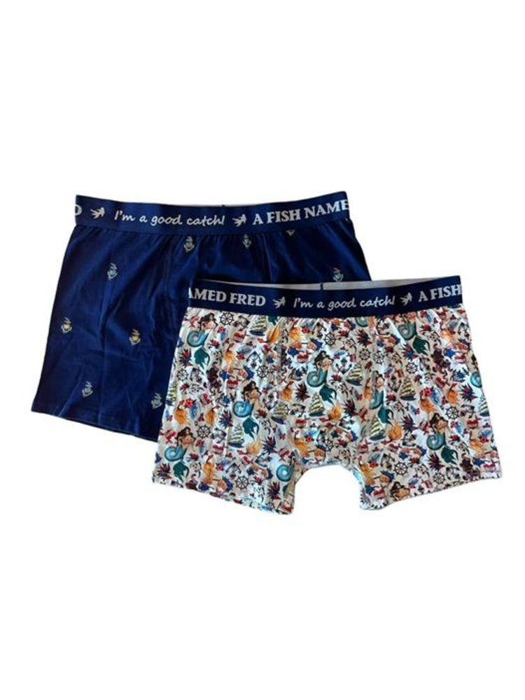 A Fish Named Fred 2 pack boxers - Fred on Deck